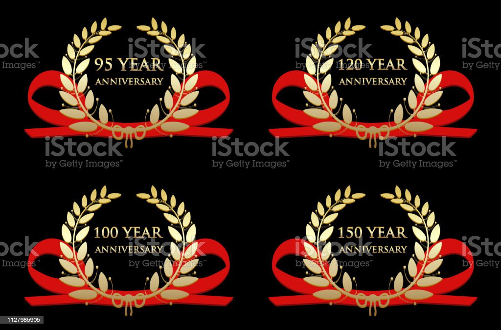 Anniversary Celebration Gold Awards vector art illustration