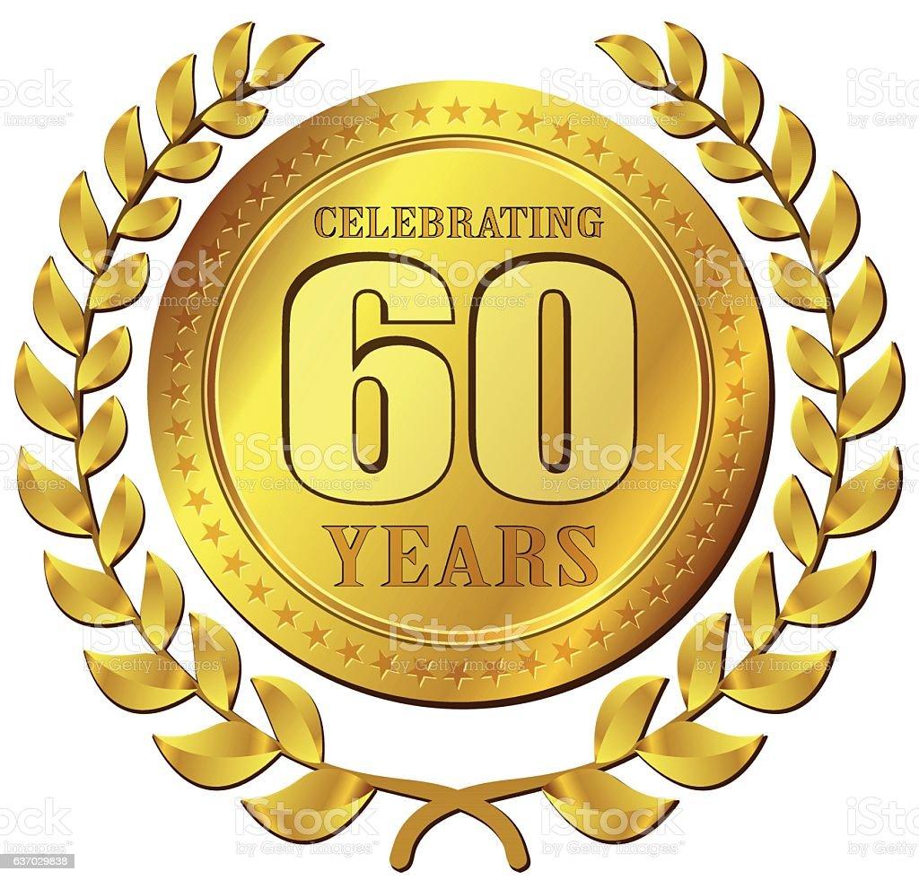 anniversary celebration gold icon vector art illustration