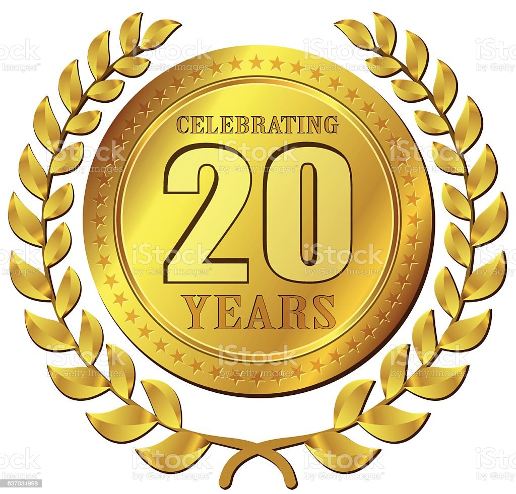 anniversary celebration gold icon – Vektorgrafik