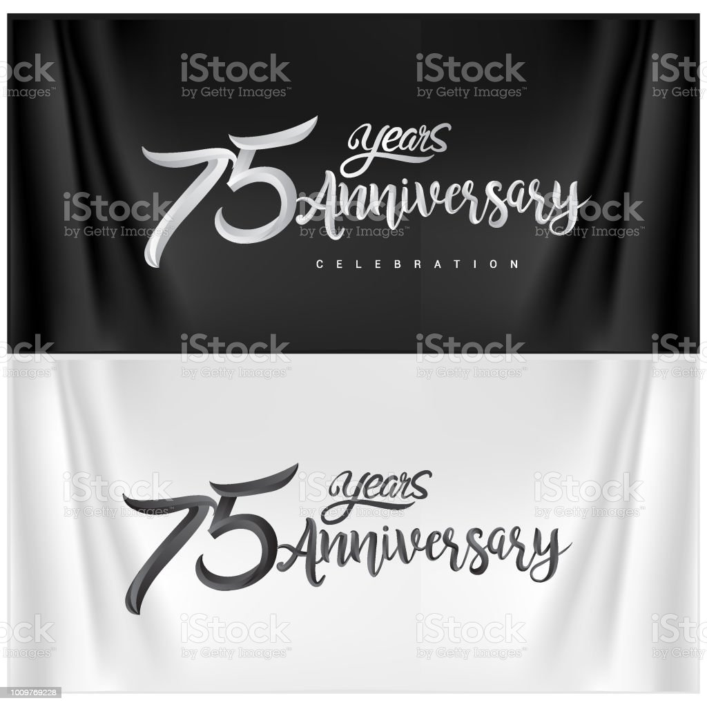 Anniversary Celebration Logotype. ten years Anniversary handmade Calligraphy vector art illustration