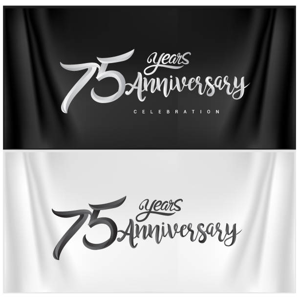 Anniversary Celebration Logotype. ten years Anniversary handmade Calligraphy vector art illustration