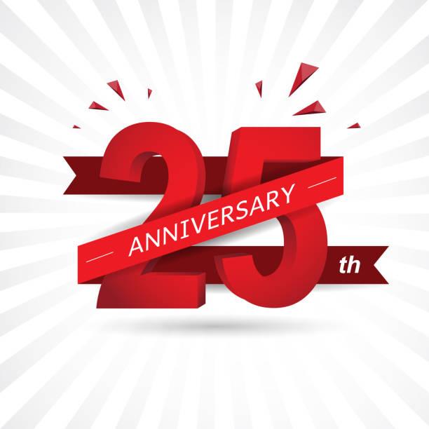 bildbanksillustrationer, clip art samt tecknat material och ikoner med årsjubileum nummer bakgrund. vektorillustration - 25 29 år
