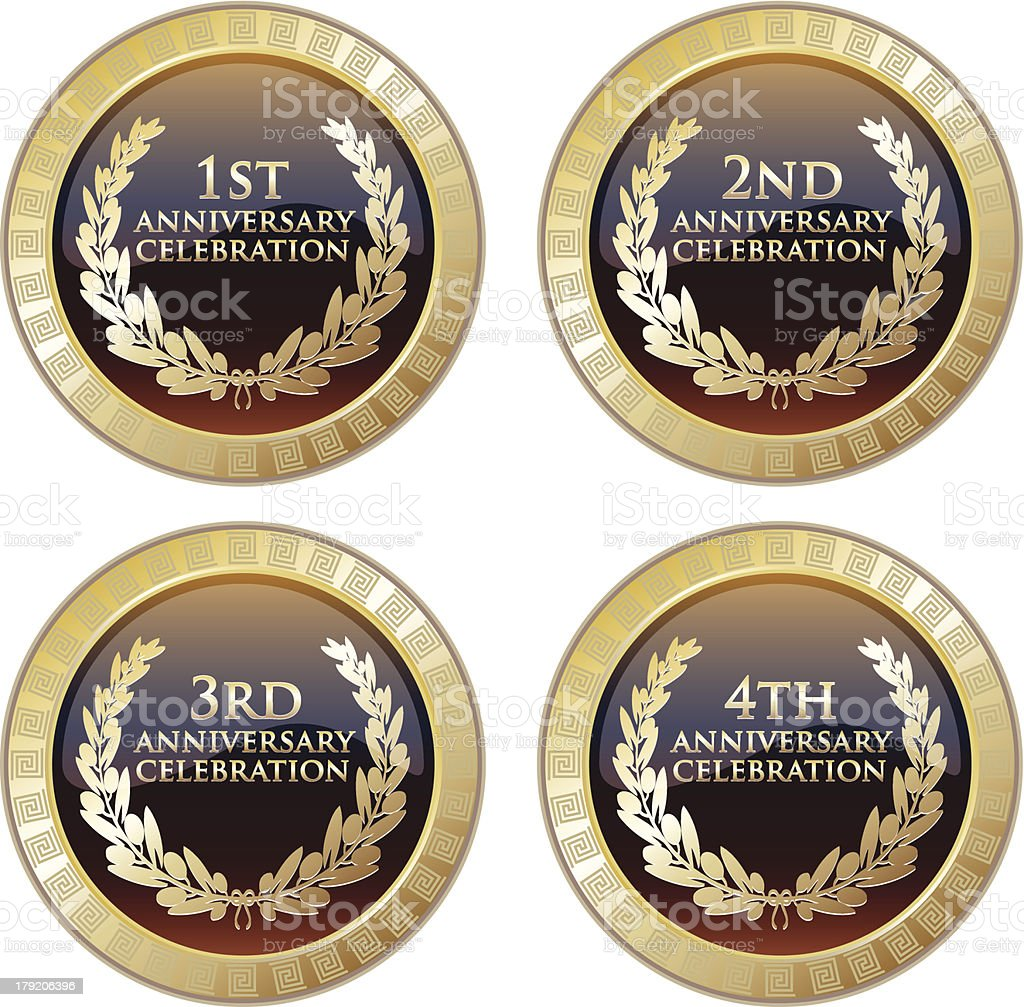 Anniversary Celebration Plaque Collection royalty-free anniversary celebration plaque collection stock vector art & more images of anniversary