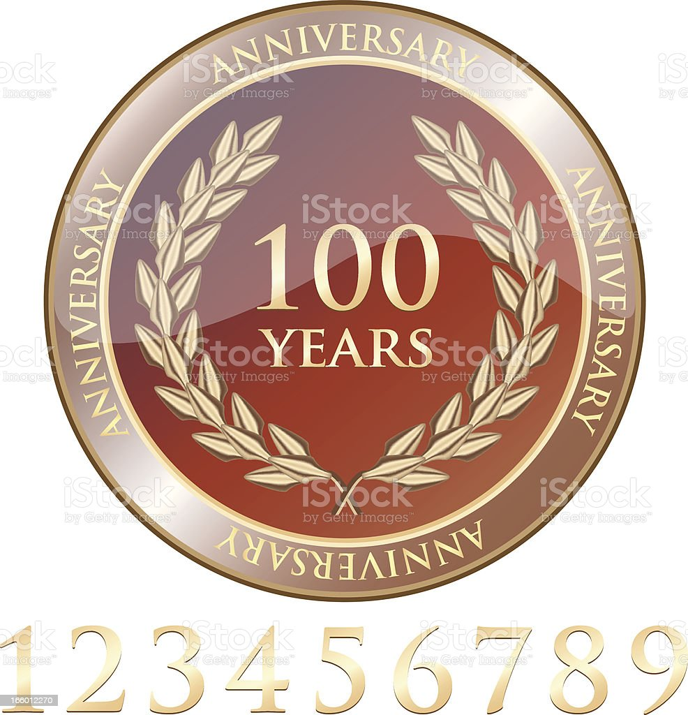 Anniversary Celebration Shield With Numbers vector art illustration