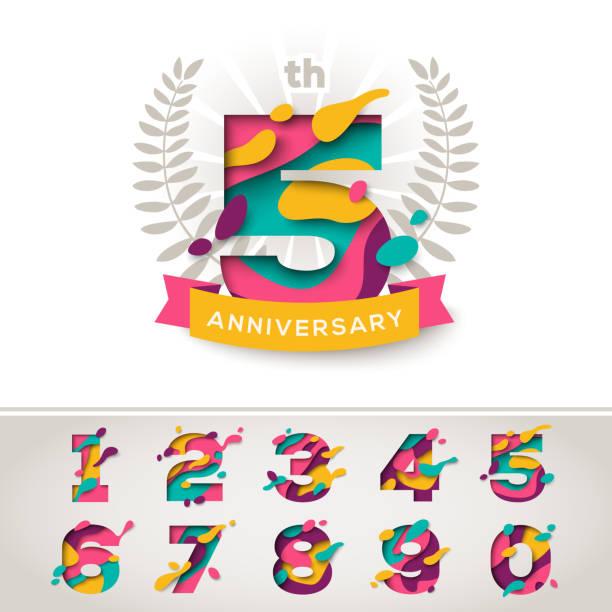 ilustrações, clipart, desenhos animados e ícones de sinais de comemoração de aniversário - festa da empresa