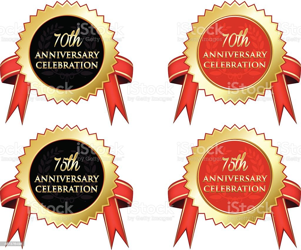 Anniversary Celebration vector art illustration