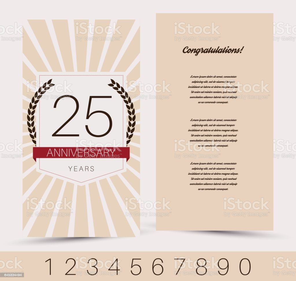 Anniversary decorated invitation greeting card template arte anniversary decorated invitation greeting card template anniversary decorated invitation greeting card template arte stopboris Images