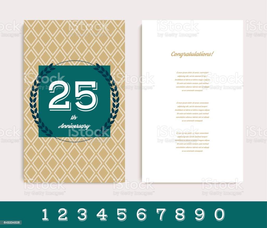 Geburtstag Einladung dekoriert / Gruß Kartenvorlage. – Vektorgrafik