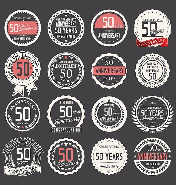 design de Aniversário de 50 anos - ilustração de arte em vetor