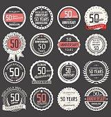 Anniversary design, 50 years