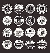 Anniversary design, 60 years