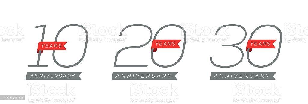 Anniversary Design vector art illustration