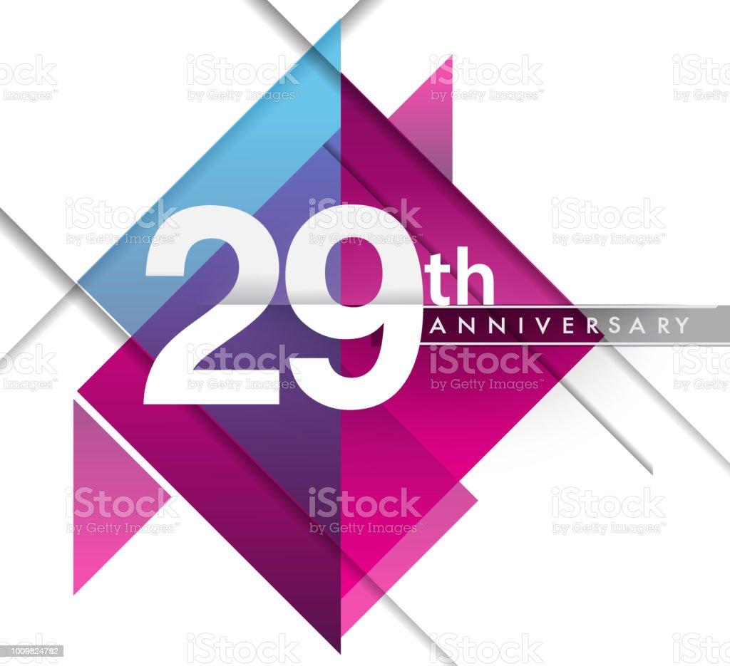 Anniversary design with geometric, vector design birthday celebration vector art illustration