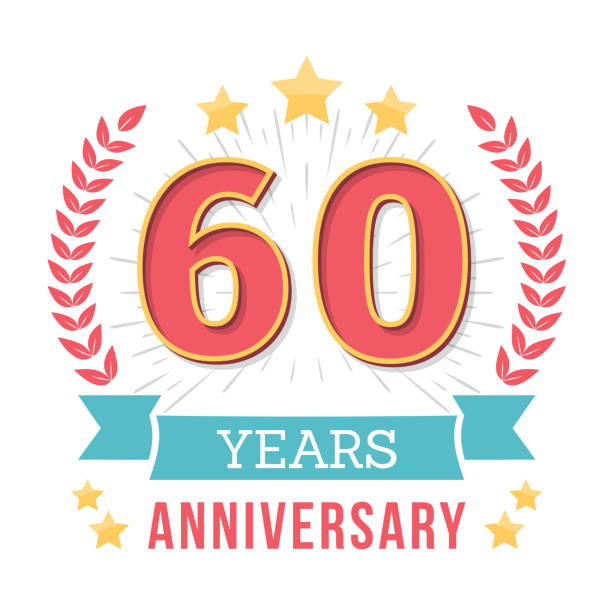 Anniversary Emblem vector art illustration