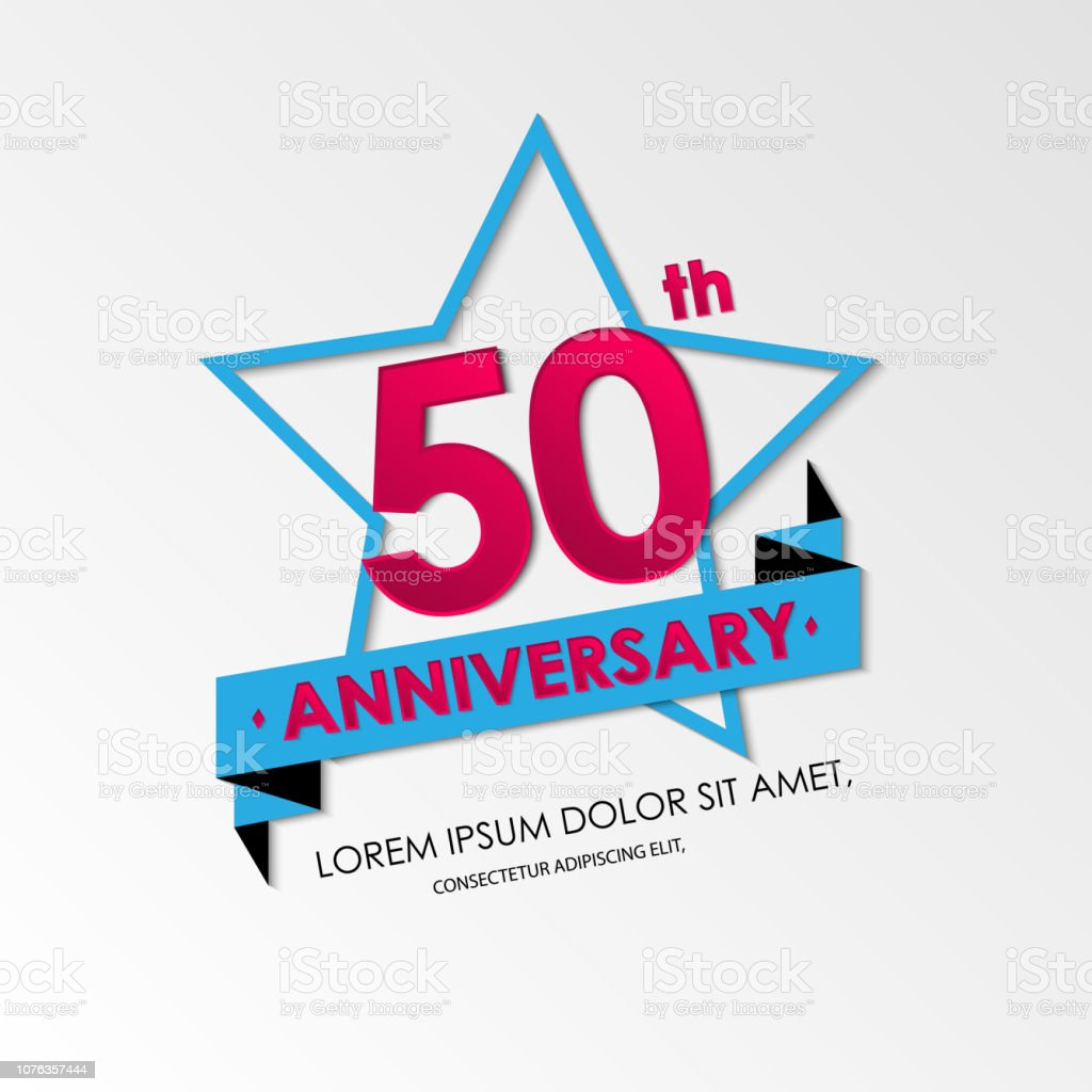 anniversary emblems 50th anniversary template design. vector illustration background. vector art illustration