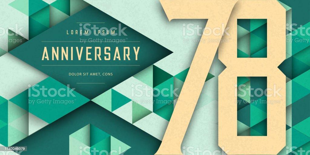 Anniversary Emblems Celebration Logo 78th Birthday Vector