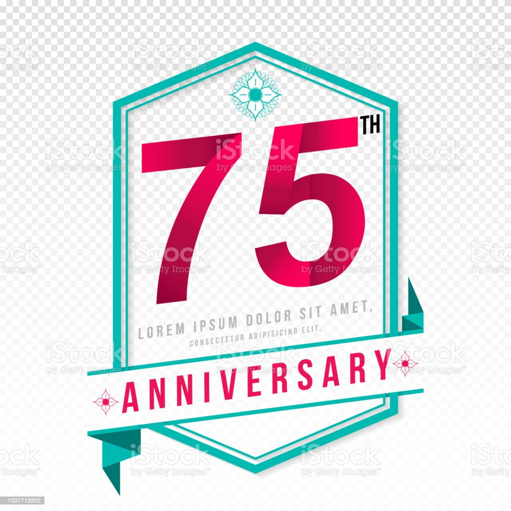 Anniversary emblems template design vector art illustration