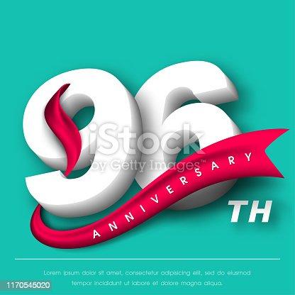 Anniversary emblems 96 anniversary template design