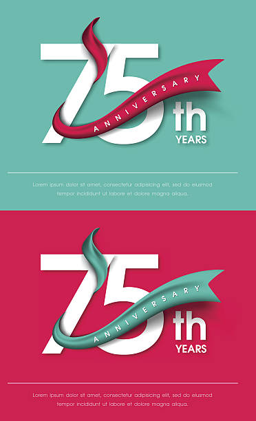 Anniversary emblems template design vector art illustration