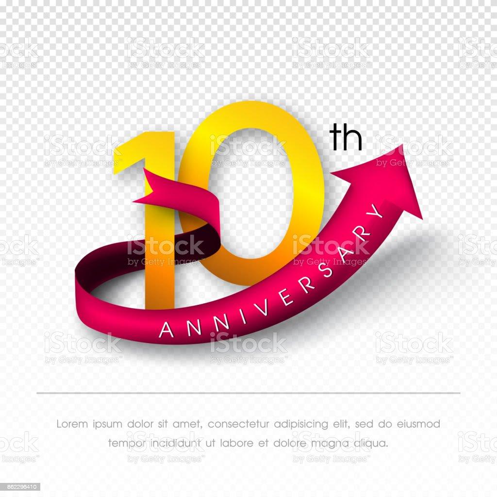 Anniversary emblems vector art illustration