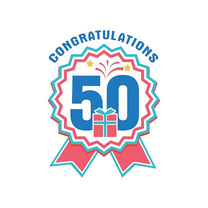 Jubileum 50 År Antal-vektorgrafik och fler bilder på 50-54 år