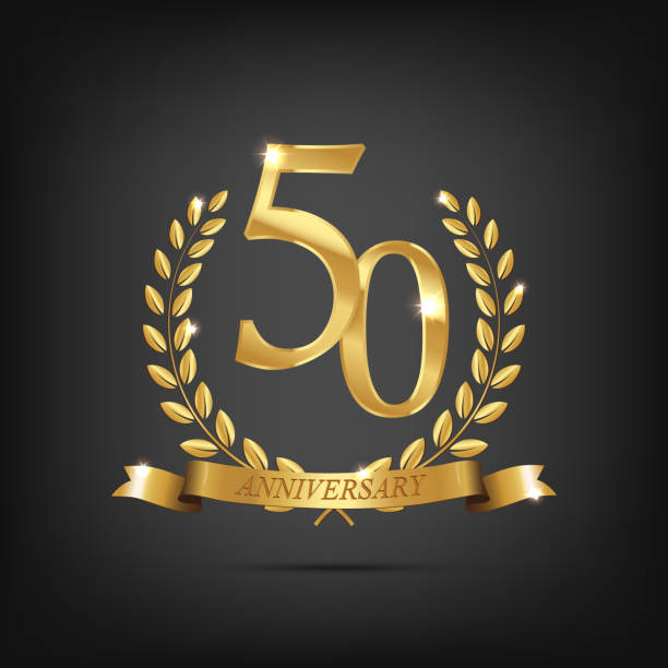 Royalty Free 50th Wedding Anniversary Clip Art Vector Images
