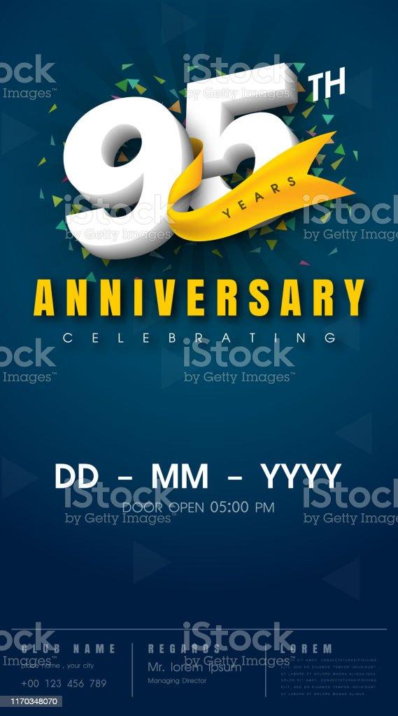 Anniversary Invitation Card Template Design Stockowe