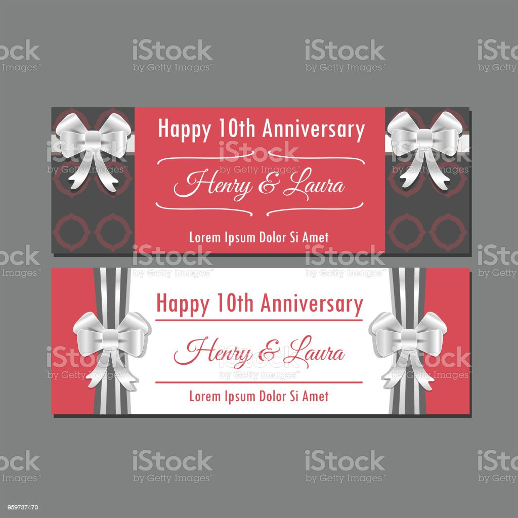Anniversary Invitation Templates Stock Vector Art More Images Of