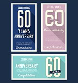 Anniversary labels collection, 60 years