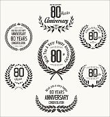 Anniversary laurel wreath collection 80 years