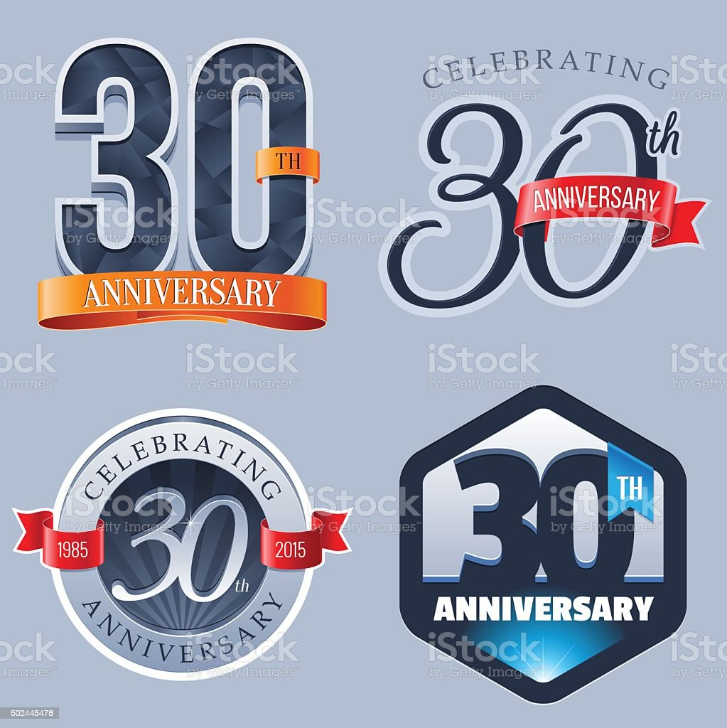 Anniversary Logo - 30 Years royalty-free anniversary logo 30 years stock illustration - download image now