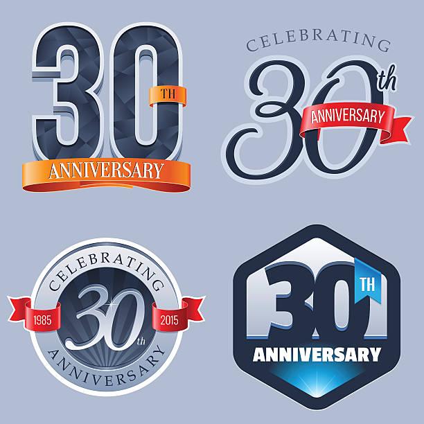 Anniversary Logo - 30 Years vector art illustration