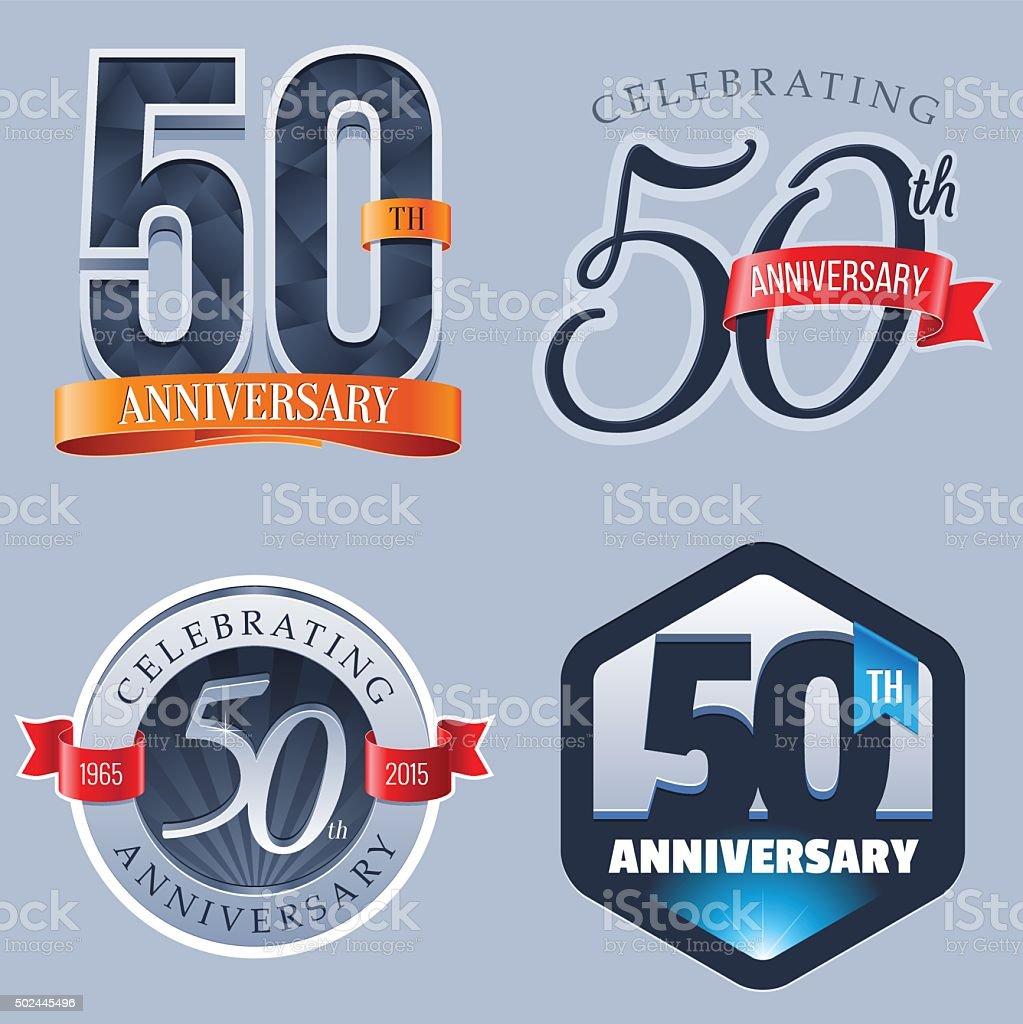 Anniversary Logo - 50 Years vector art illustration
