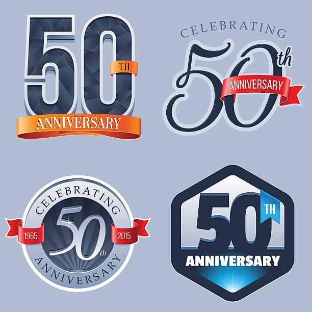 Logotipo de aniversário de 50 anos - ilustração de arte em vetor