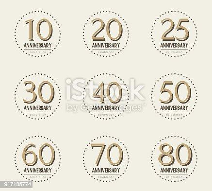 Graphismes Vectoriels Et Clipart 70 Year Anniversary