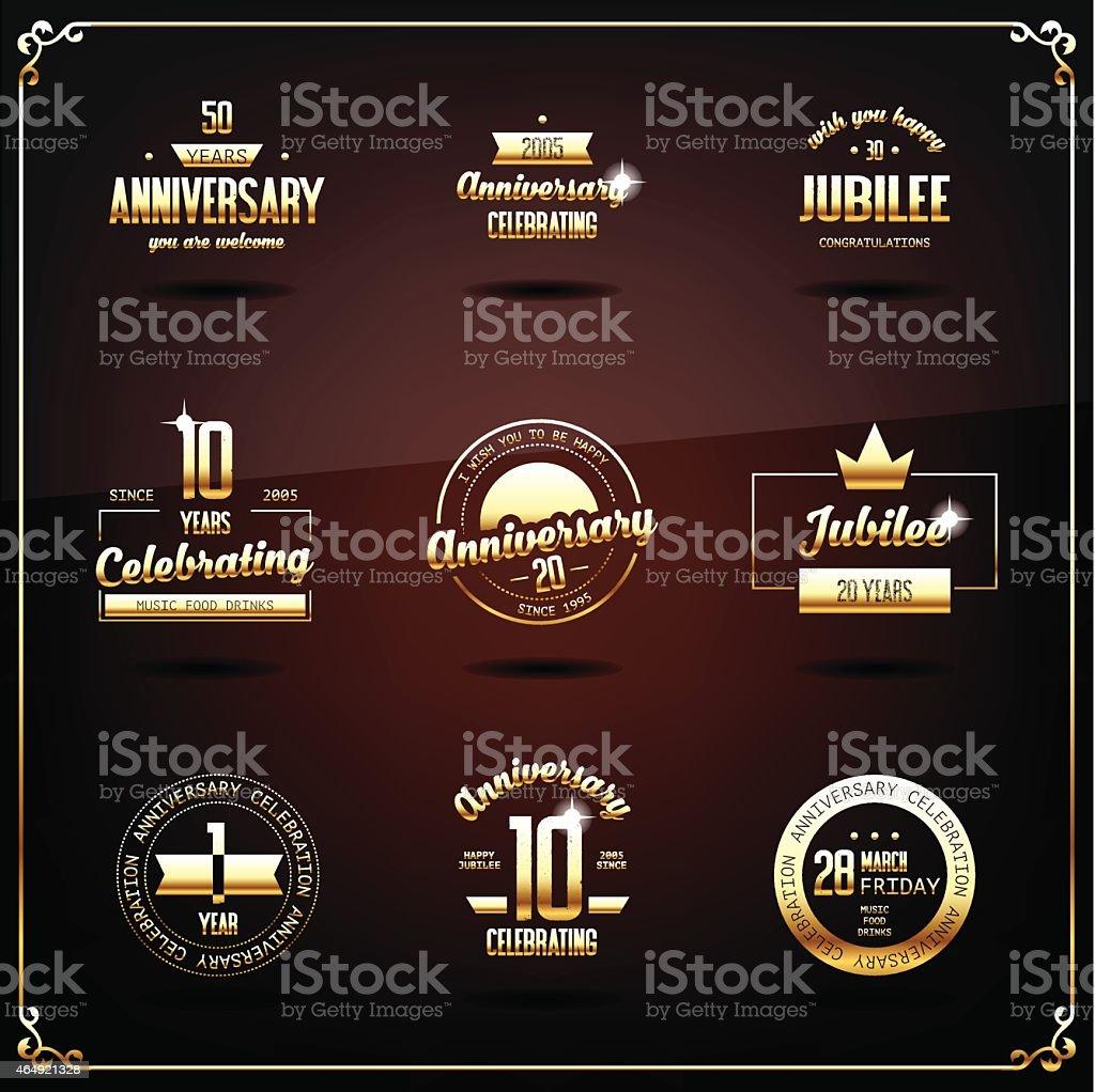 Aniversario de logotipos. - ilustración de arte vectorial