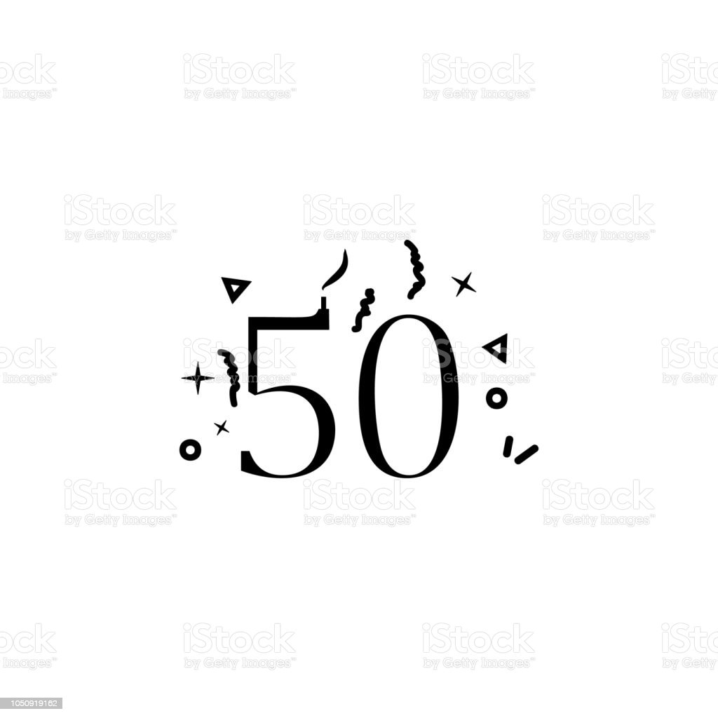 Anniversary of 50th dusk style icon. Element of birthday party in dusk style icon for mobile concept and web apps. Thin line Anniversary of 50th icon can be used for web and mobile vector art illustration