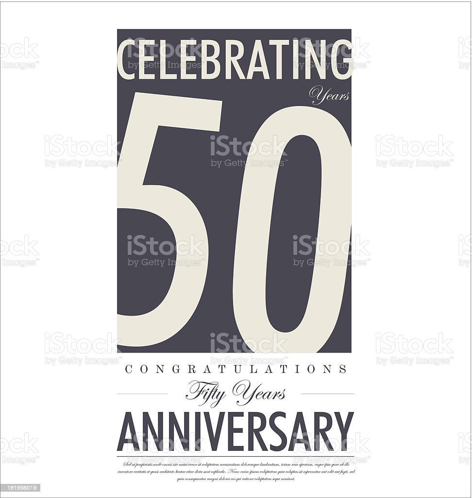 Anniversary retro background vector art illustration