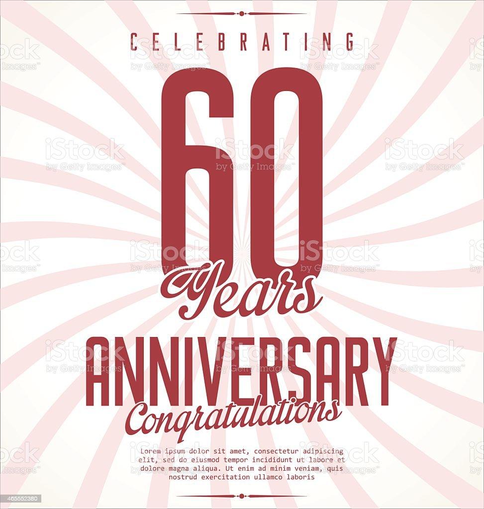 Anniversary retro background vector art illustration
