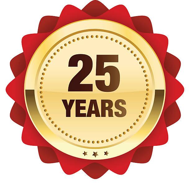 bildbanksillustrationer, clip art samt tecknat material och ikoner med anniversary seal or icon - 25 29 år