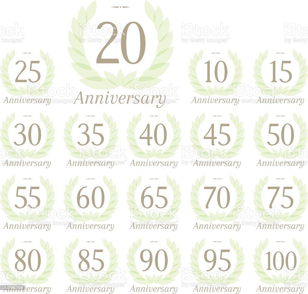 Anniversary sign collection - Royaltyfri 14-15 år vektorgrafik