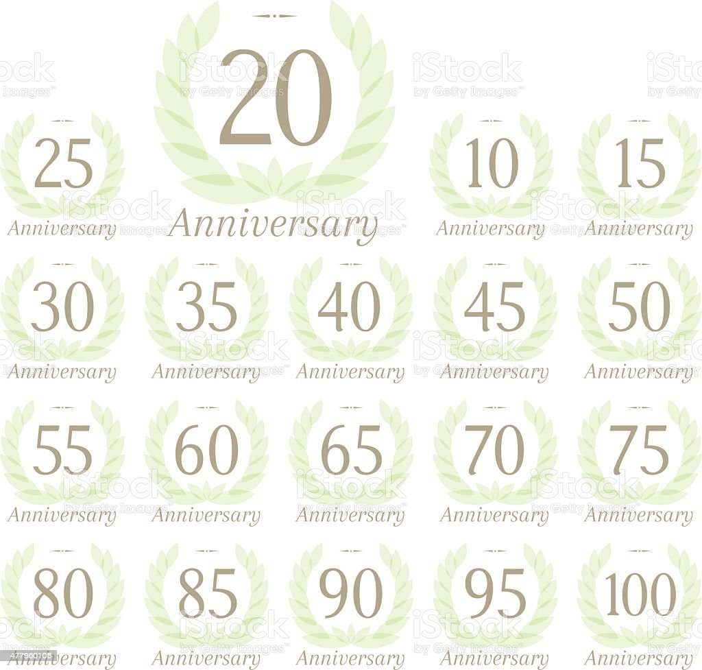 Anniversary sign collection vector art illustration