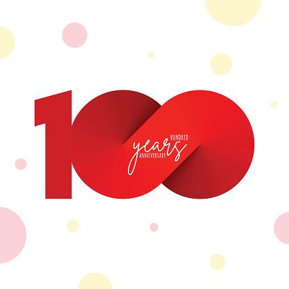 Anniversary symbol template isolated, anniversary icon label, anniversary symbol stock illustration