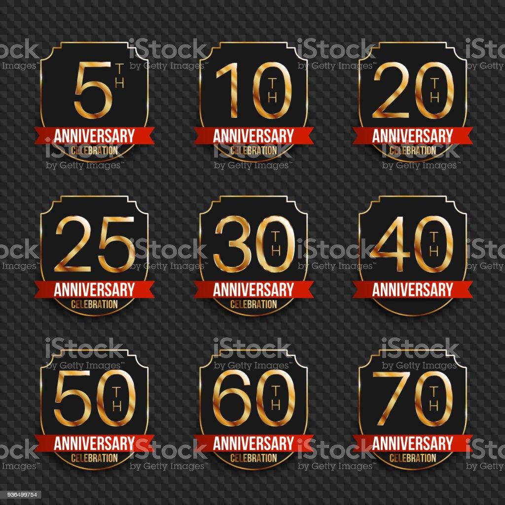Anniversary Symbols Collection 5th 10th 20th 25th 30th 40th 50th