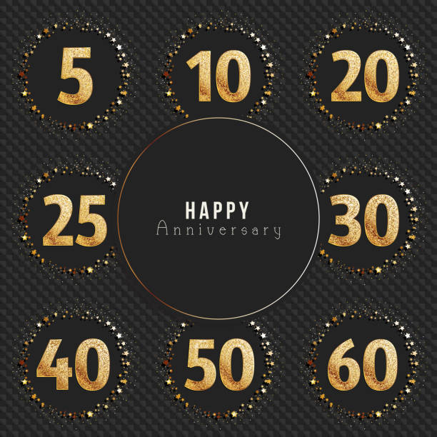 30 Year Anniversary Symbol: Royalty Free 50th Clip Art, Vector Images & Illustrations