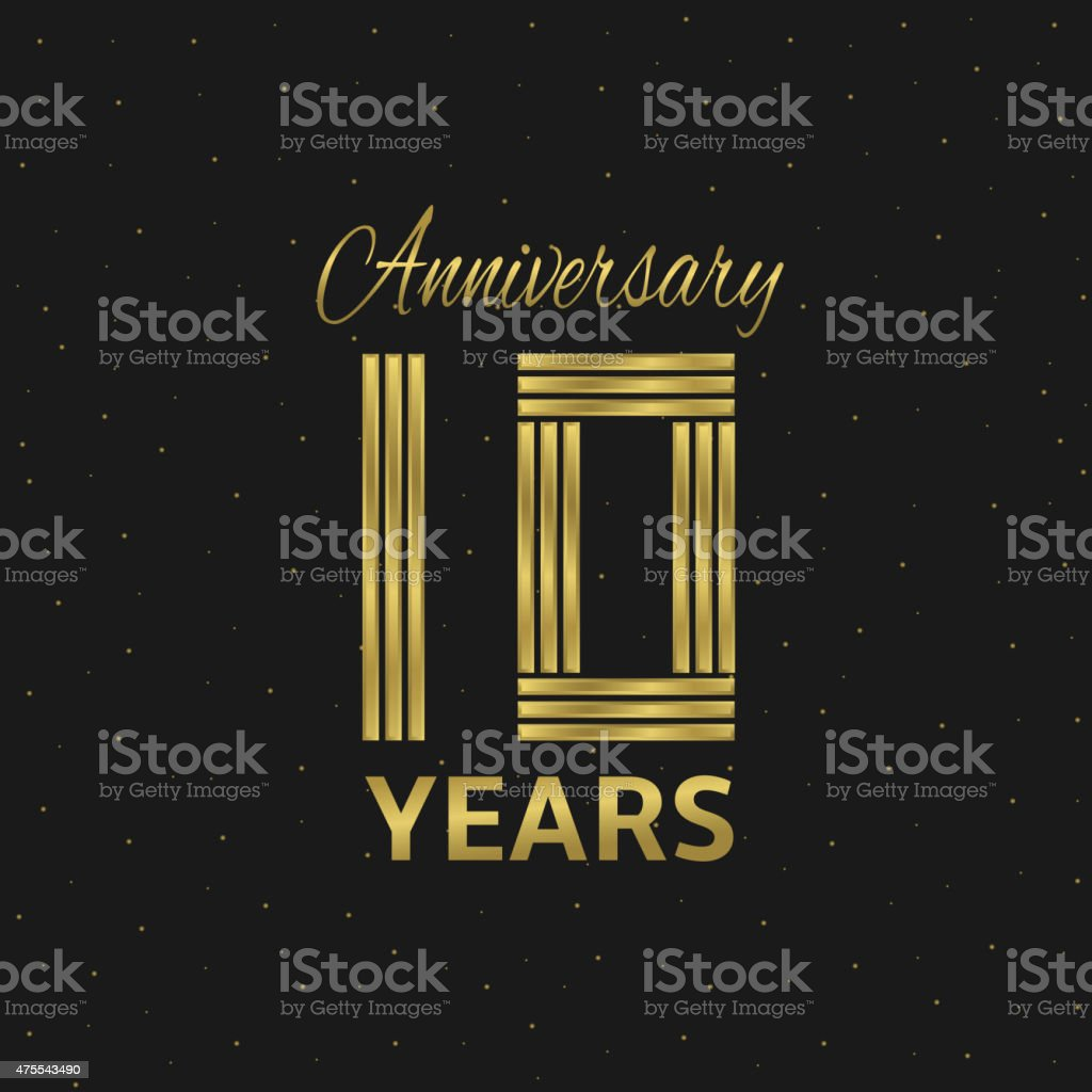 Anniversary vector art illustration