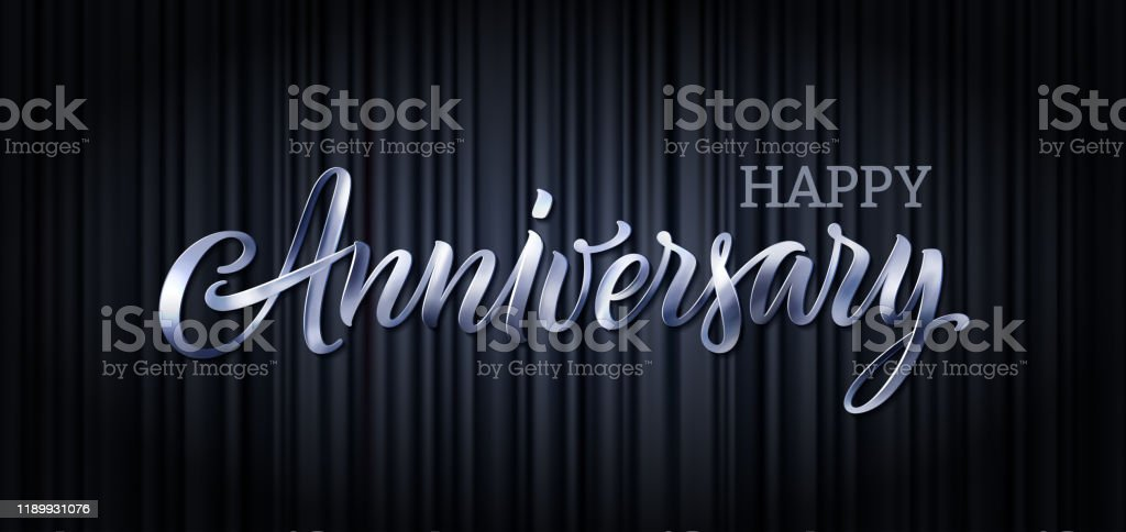 Anniversary Vector Text Banner Letter Poster Happy Anniversary 3d