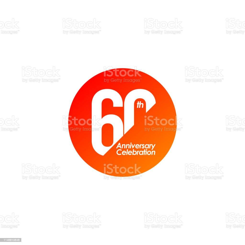 60 Anniversary Years Background Logo Gold Birthday