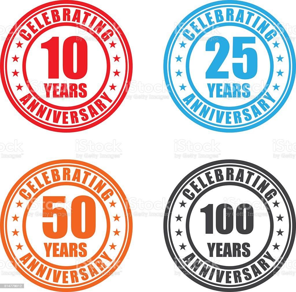 AnniversaryLabels – Vektorgrafik