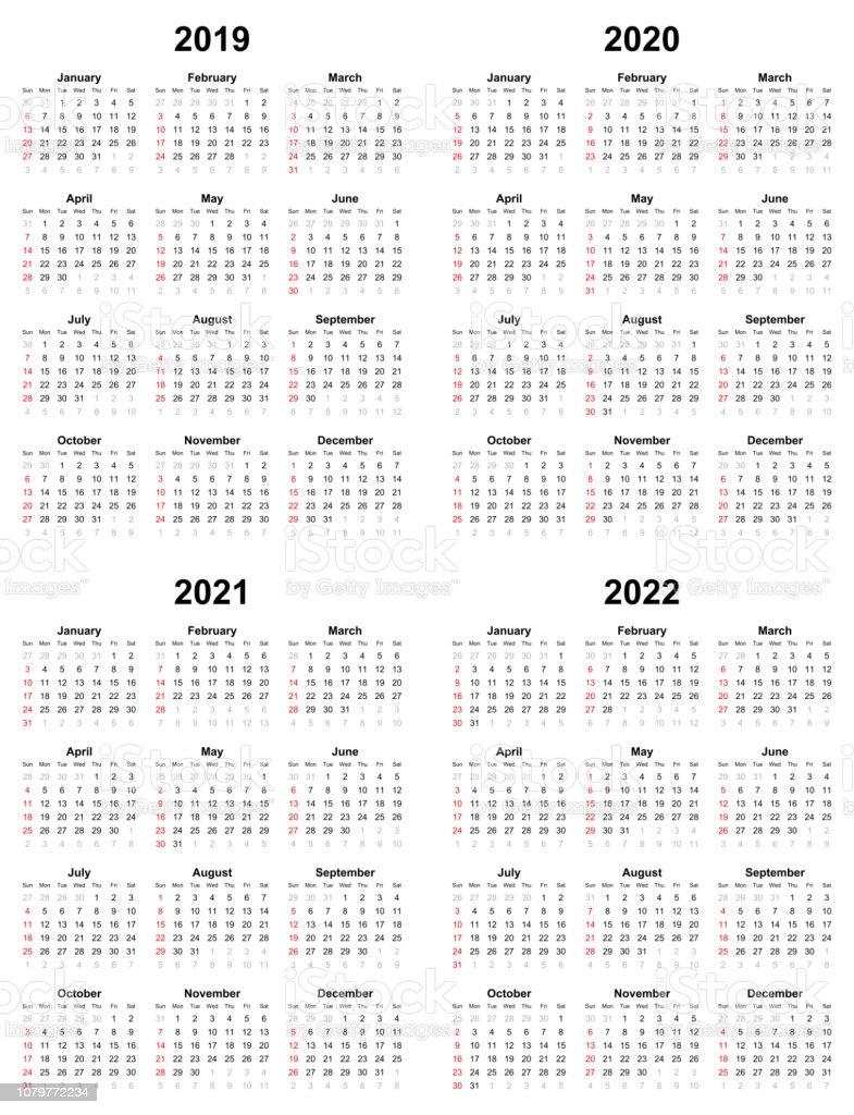 Calendrier Annuel De Plaine Dimanche Premier Jour 2022 2021 2020